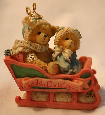 "1994 Cherished Teddies ""Our First Christmas"" Dated Ornament"