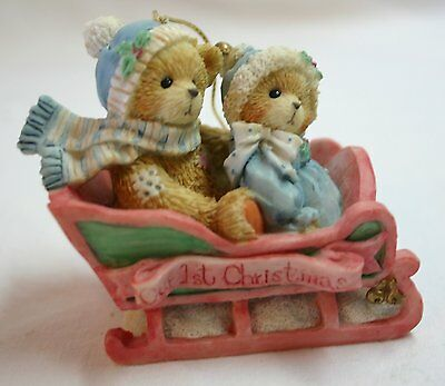 Cherished Teddies Our 1st Christmas Dated 1994 Hanging Ornament-MIB