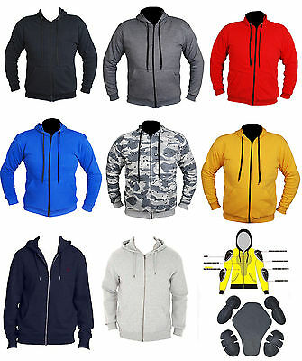 Motorbike Motorcycle Full Protective Aramid Lined CE Armour Fleece Hoodie
