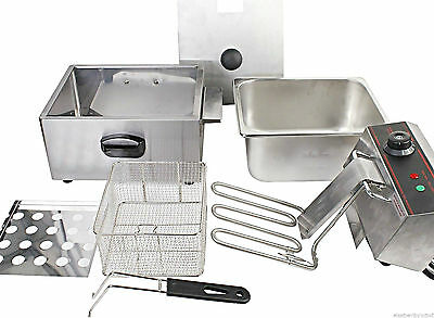 Deep Fryer Best Commercial / Domestic 2500 W Tabletop Frying w/ Basket Scoop New