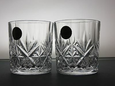 Rcr Crystal Cut Glass Lead Crystal 2 Tumblers