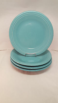 Fiestaware Turquoise Dinner Plate Lot of 4 Fiesta Blue 10.5 inch plates