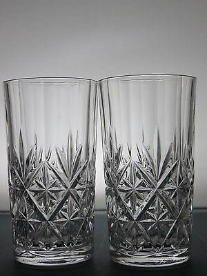 Rcr Crystal Cut Glass Lead Crystal Set Of 2 Highball