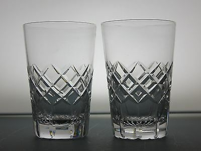 Tudor Crystal Cut Glass Lead Crystal 2 Tumblers