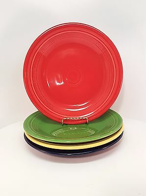 Fiestaware mixed colors Dinner Plate Lot of 4 Fiesta 10.5 inch plates 4C1M10