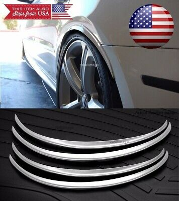 "1 Pair 47/"" Black Flexy Arch Wide Body Fender Flares Extension Lip Guard For BMW"