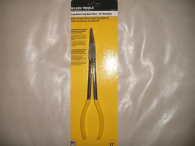 """Klein Tools 11"""" Long Reach Long Nose Pliers 45 Degree Usa Made D362-11"""