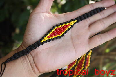 10 Aboriginal Friendship L Diamond Coconut Shell Wood Wooden Bracelets Wholesale