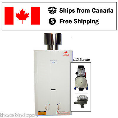 Eccotemp L10 Tankless Water Heater with Flojet Pump + Strainer *NEW*