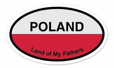 """Sweden Land of My Fathers Flag Oval car window bumper sticker decal 5/"""" x 3/"""""""