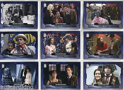Doctor Dr Who 2015 - Companions - Chase Card SET (10) - Topps 2015 - NM
