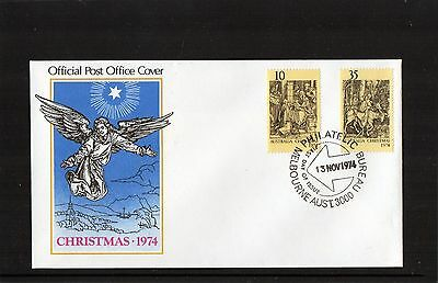 1974 Christmas Set Of 2 First Day Cover, Mint Condition