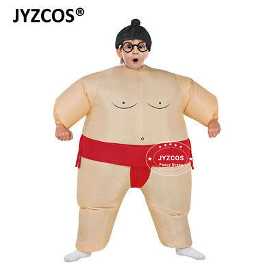 Kids Inflatable Sumo Wrestling Costume Wrestler Suit Boy Girl Fancy Dress Outfit