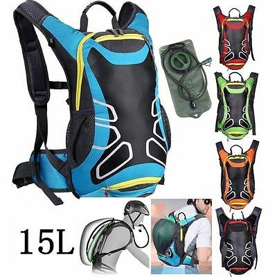 new 15L Bicycle Cycling Rucksack Backpack Hydration Pack 2L Water Bladder Bag