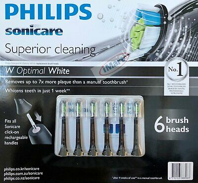 6Pack Philips Sonicare Superior Cleaning Replacement Electric Toothbrush Heads