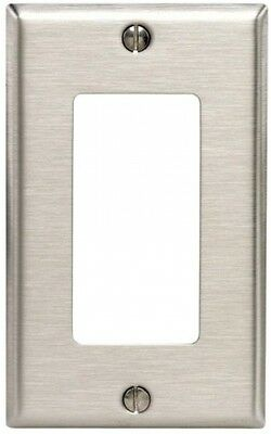Leviton 84401-40 1-Gang Decora/GFCI Device Decora Wallplate, Device Mount, With