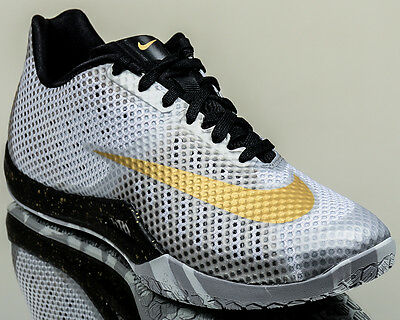 buy online a4fe3 bec3f Nike Hyperlive men basketball sneakers low NEW white metallic gold platinum