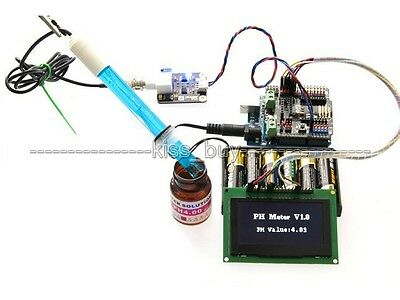 Analog PH Probe Sensor Shield and PH Probe Kit For Arduino uno r3 water Detect