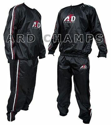 Heavy Duty Sweat Suit Sauna Weight Lose Exercise Gym Suit Fitness Track Suit-2XL