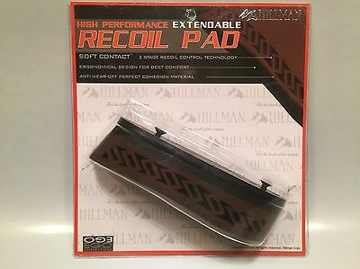 Brown rubber recoil pad,Air rifle pad , Extendable recoil pad, Rem 870, 1187 pad