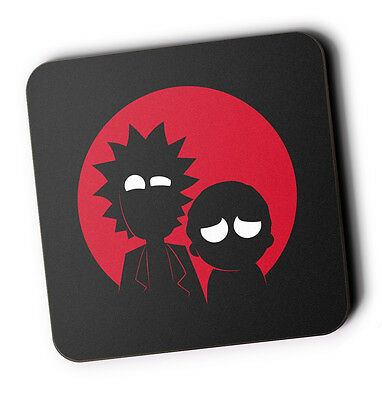 Rick And Morty Wood Coaster For Mugs/Cups Geeky
