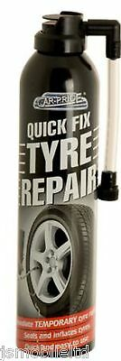 QUICK FIX 300ML INSTANT SEALS INFLATE TYRE REPAIR FOAM FOR CAR BIKE CYCLE Tires
