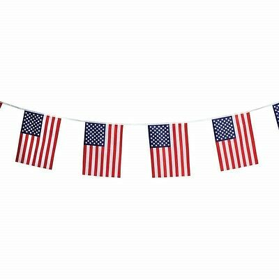 "16' String 12""x18"" US FLAG Party Banner USA American Stars Stripes United States"