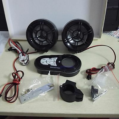 Motorcycle Bluetooth Speaker Stereo Amplifier Audio Sound System MP3 Player