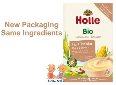 Holle Organic Corn & Tapioca Porridge Cereal 250g FREE  SHIPPING