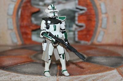 Clone Commander green Star Wars Revenge Of The Sith Collection 2005