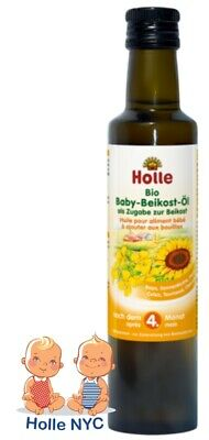Holle Organic Baby Weaning Oil 250 ml 4 month plus FREE EXPEDITED SHIPPING