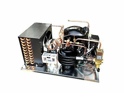 Combo Air+Water Cooled Condensing Unit, 1 HP, High Temp, R134a, 220V (NJ6220Z2)