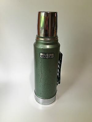 Vintage Aladdin Stanley Quart green Metal Thermos bottle Handle A-944DH 100 cup