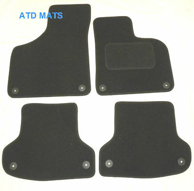 Tailored Black floor Car Mats velour for AUDI A3 tdi s line 2003 to 2012 B2234
