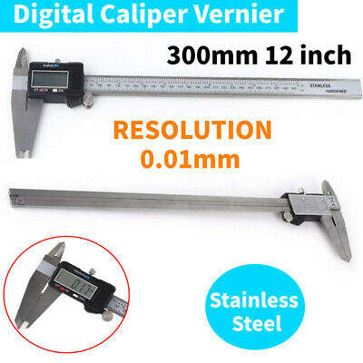 "Nice 12"" 300MM Electronic Digital Vernier Caliper Micrometer Large LCD Display"