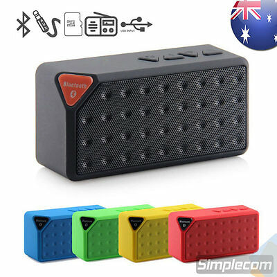 Mini Bluetooth Wireless Speaker Music Bar AUX USB FM MicroSD for iPhone Android