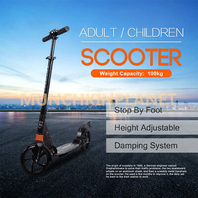 New Adult Scooter Wheel Push Scooter With Suspension for Gift 200mm Wheels AU