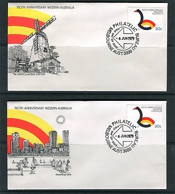 1979 150th Anniversary Of WA Set Of 2 FDC, Covers Are In Mint Condition