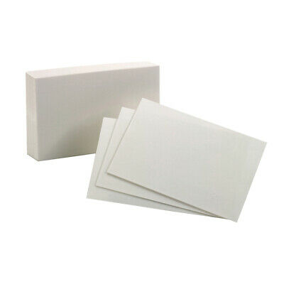 """Oxford 40156-Sp 100 Count 4"""" X 6"""" White Blank Index Cards,No 40156-SP"""
