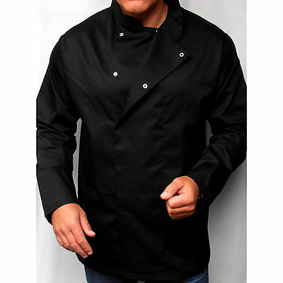 Chef's Care Black Unisex Chef Jackets with Long Sleeves – 2XL