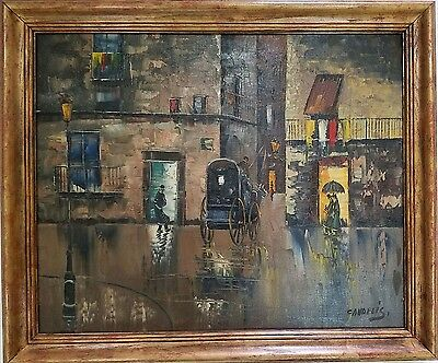CITYSCAPE Oil on Canvas by Listed Artist GAY CANDELIS