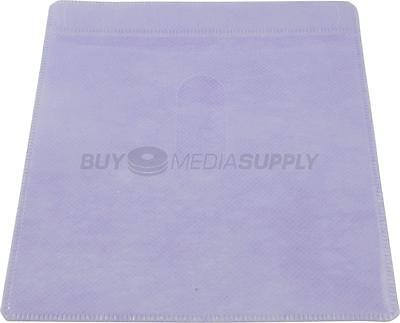Non woven Purple Color Plastic Sleeve CD/DVD Double-sided - 200 Pack