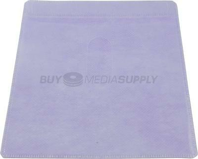 Non woven Purple Color Plastic Sleeve CD/DVD Double-sided - 300 Pack