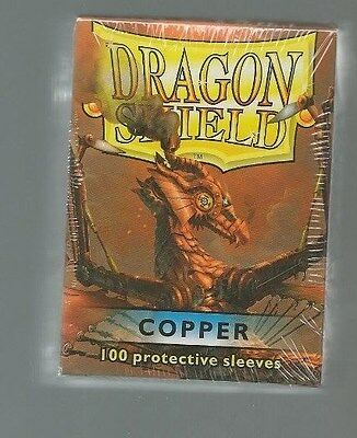 (100) Dragon Shield Copper Protective Sleeves Sealed Magic MTG FREE SHIPPING