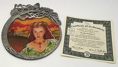 Gone With The Wind Pewter Stained Glass Scarlett Radiance Wall Hanging Plate COA