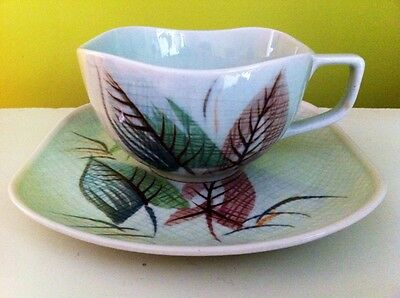Orient Ware Verano Japan Hand Painted Cup And Saucer - Great Condition