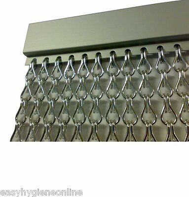 EU Made Metal Chain FLY Pest INSECT DOOR SCREEN CURTAIN Control Silver