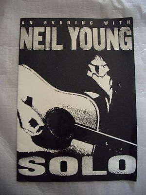 An Evening With Neil Young Solo Picture Book 1999
