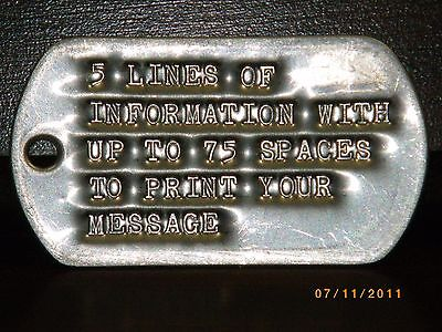 military identification tags active duty military dog tags military personal