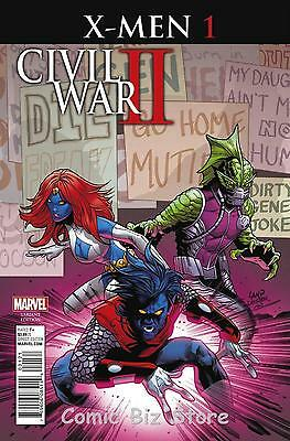Civil War Ii: X-Men #1 (Of 4) (2016) 1St Printing Land Variant Cover Cw2
